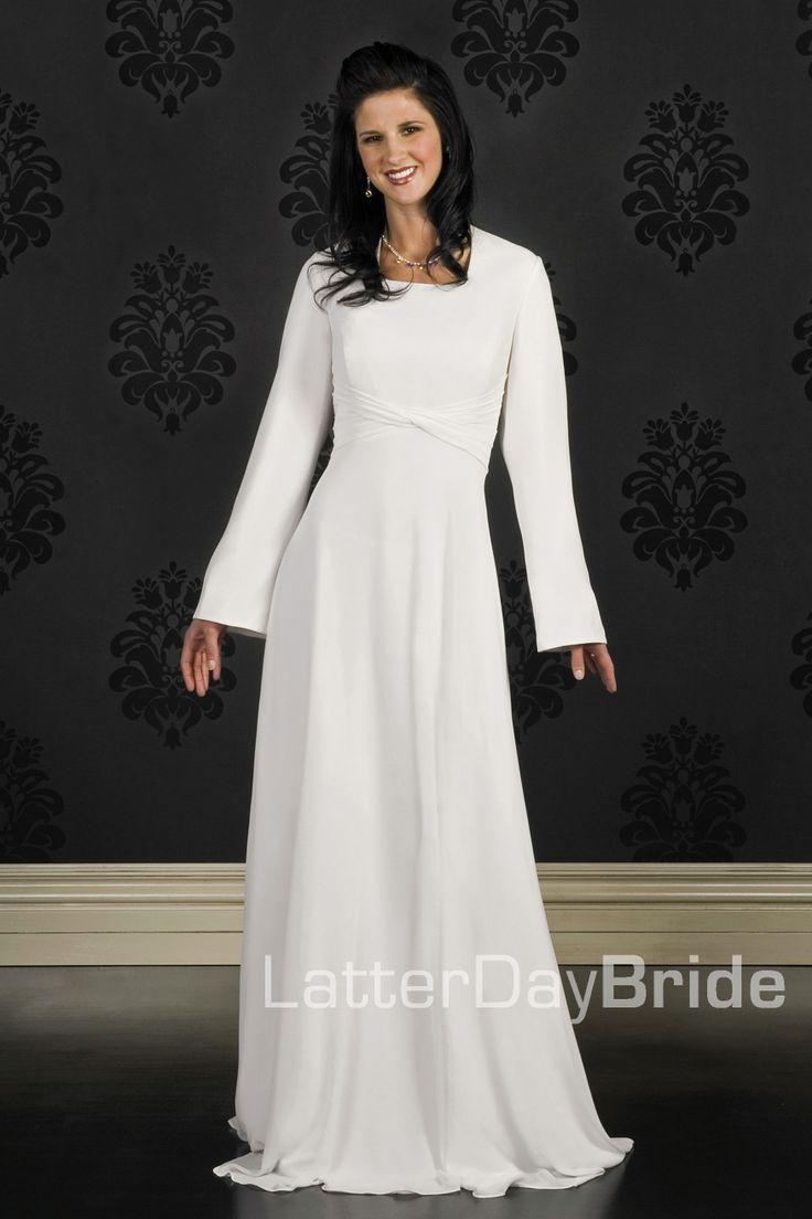 I had to pin on this one just becaus of the name: Spokane. Modest Wedding Dress, Spokane | LatterDayBride & Prom