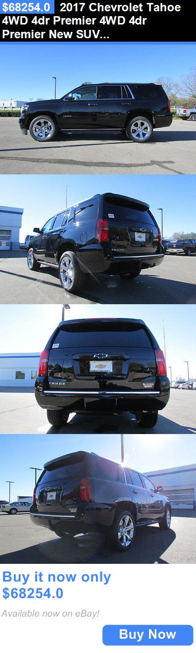 SUVs: 2017 Chevrolet Tahoe 4Wd 4Dr Premier 4Wd 4Dr Premier New Suv Automatic 5.3L 8 Cyl Black BUY IT NOW ONLY: $68254.0