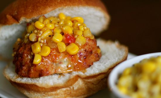 Healthy Chicken Burger stuffed with cheese BAKED in the oven!! Awesome ...