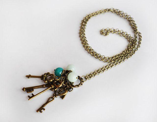 diy keys necklace/ naszyjnik z kluczy