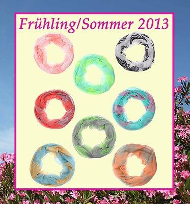Rundschal, Loopschal, Schlauchschal Spirale in 8 Farben Frühling/Sommer 2013 € 10,90