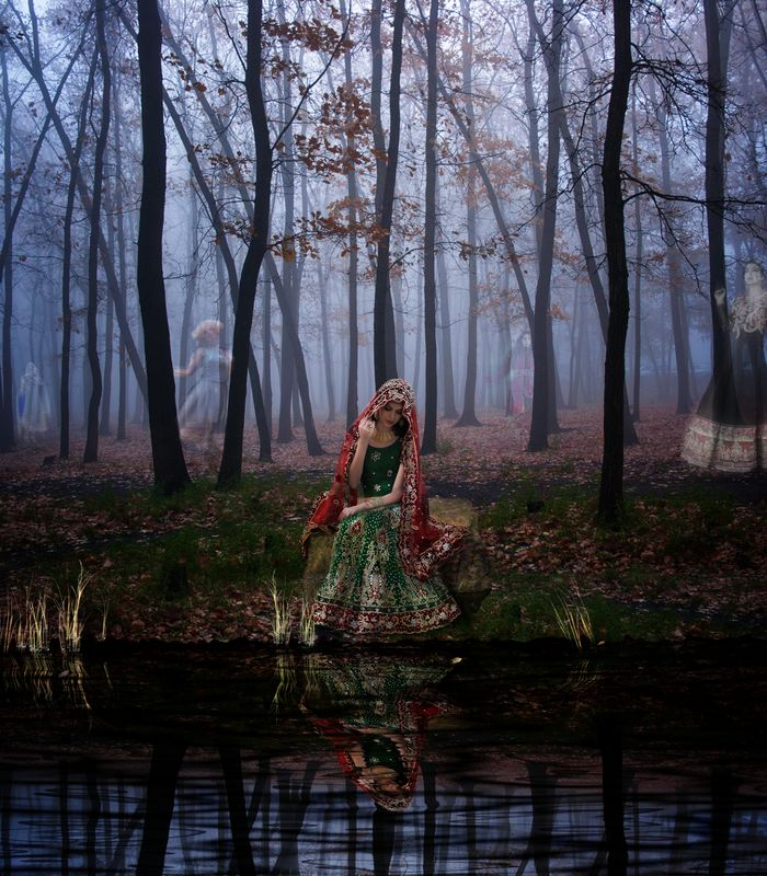 """""""the legend of the lake"""" - very slightly spooky photo manipulation."""