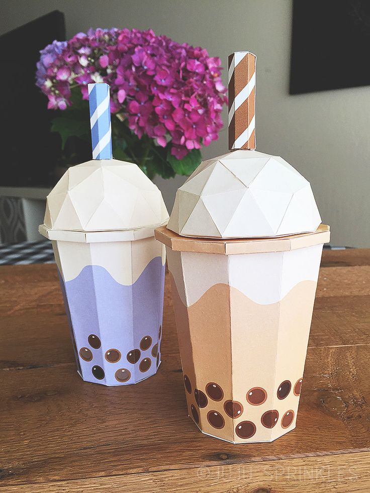 Diy boba tea origami for boba tea lovers paper tea cups