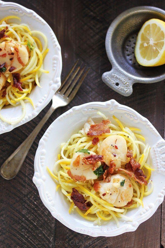 Easy Scallop Pasta - Lexi's Clean Kitchen