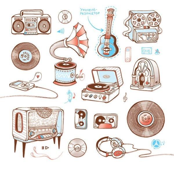 乌克兰插画家moleska作品3..,How to Draw , Study Resources for Art Students , CAPI ::: Create Art Portfolio Ideas at milliande.com, Art School Portfolio Work ,Whimsical, Music, Radio, Instrument, Illustration