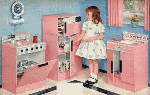 Popular boys and girls toys from 1959 in the Fifties including Little Miss Revlon Doll and Cowboy Costumes