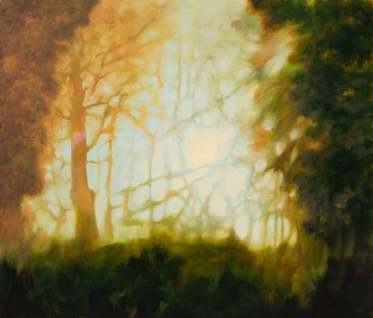 FINEARTSEEN - View Autumn on forest by Fabienne Monestier. A beautiful Autumn landscape painting. Available on FineArtSeen - The Home Of Original Art. Enjoy Free Delivery with every order. >