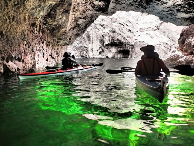 Emerald cove kayak trip kayaking pinterest mead for Fishing lake mead