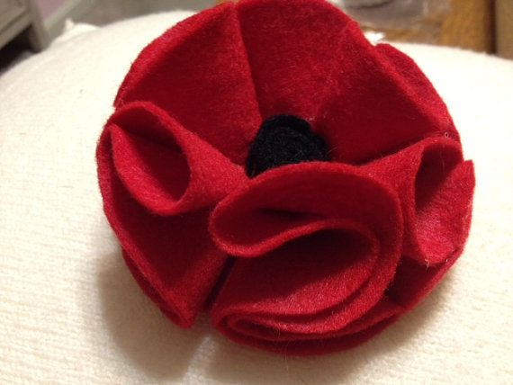 Red Poppy Pin for Veterans Day