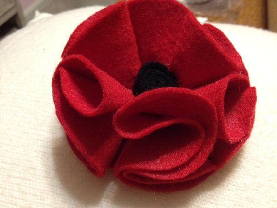 Red Poppy Pin for Veterans Day