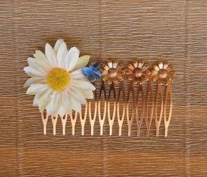 Peinecillo margarita y mariposa