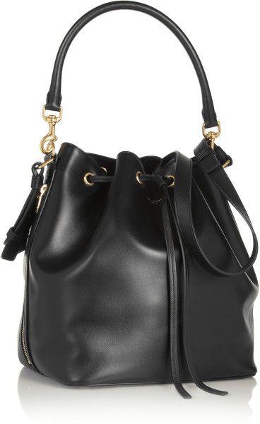 Women\u0027s Black Emmanuelle Medium Leather Bucket Bag