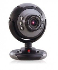 A web camera is used to take live photos videos. You can save them in the computer.