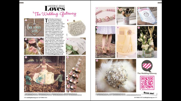 Article about The Wedding Gateway in Septembers issue of Wedding Ideas Magazine including suppliers from our local websites. Find your local site through www.theweddinggateway.co.uk