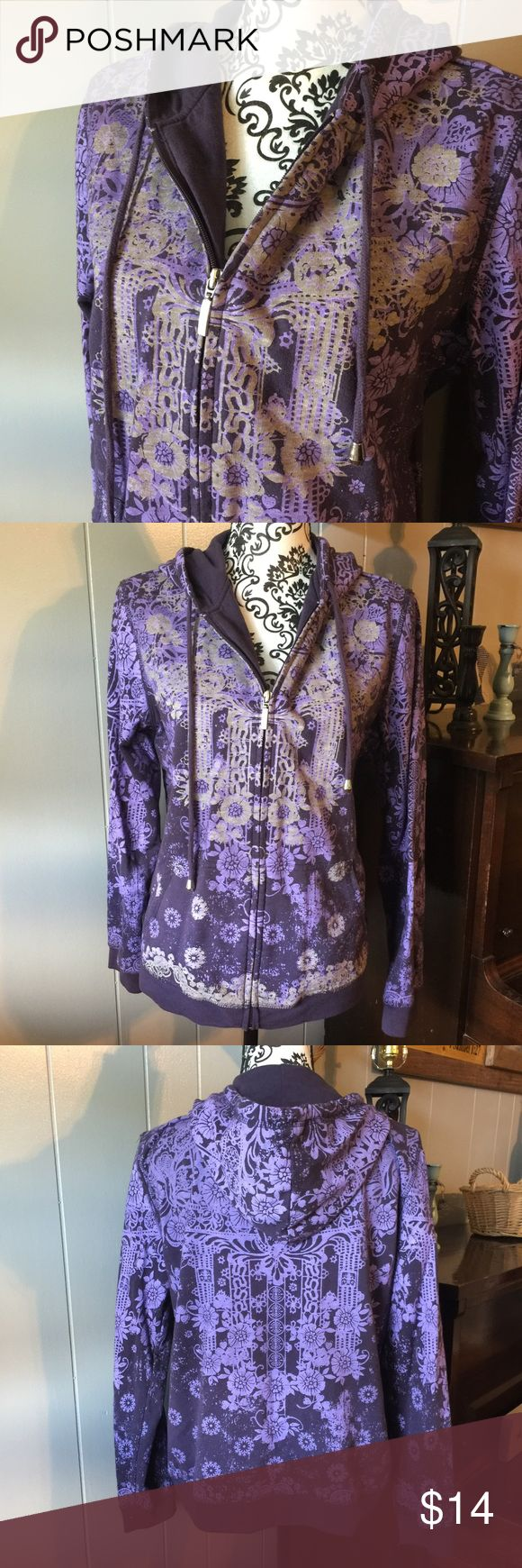 Women's Catos size large purple zip up hoodie Please feel free to ask any questions or make an offer, and as always THANK YOU for shopping my posh closet! Xoxo -Tish Cato Tops Sweatshirts & Hoodies