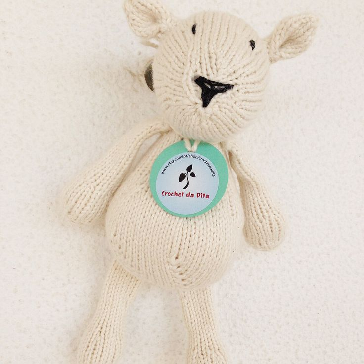 Pronto para envio - brinquedo musical - peluche ecológico - tricotado à mão - Martim o ursinho polar by crochetdadita on Etsy