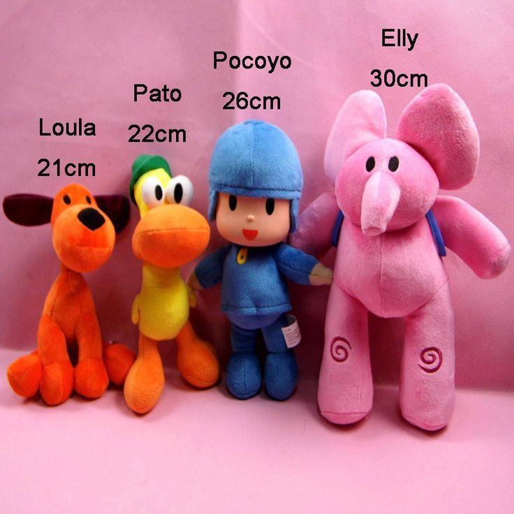 Pocoyo Loula Pato Elly Stuffed animal Plush Toys dolls brinquedo juguetes Bandai Stuffed Figure Toy P2 #Affiliate