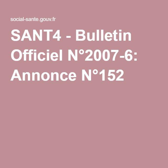 SANT4 - Bulletin Officiel N°2007-6: Annonce N°152 - CONTRE AVIS DE PLACEMENT EN ITEP DES ENFANTS TED