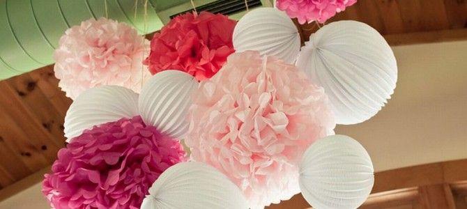 DIY decoratie - Zelf pom poms maken voor je trouwdag