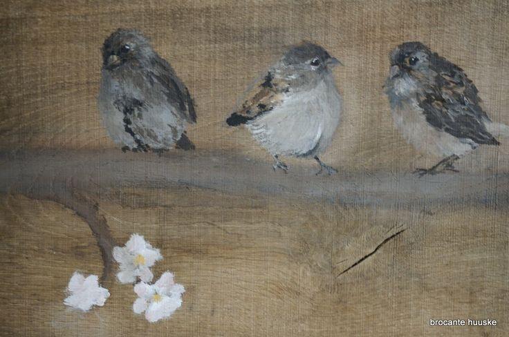 Zomertijd en Lente op mijn schilderij Summer painting