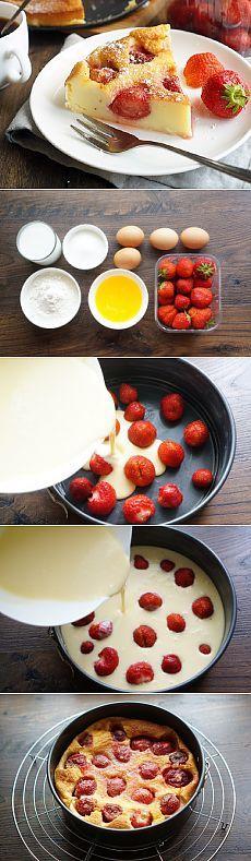 Clafoutis con fresas