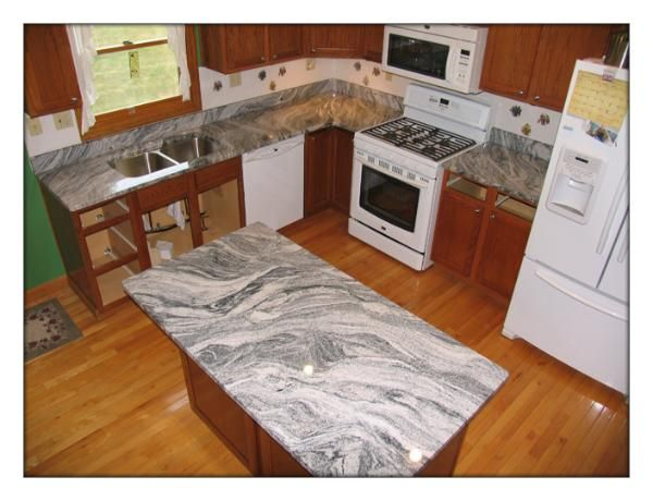 White Silver Granite Countertop : 17 Best images about remodel on Pinterest Column design, Split level ...