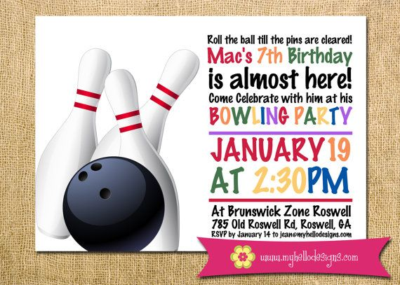 The 25+ best Bowling birthday invitations ideas on Pinterest - bowling flyer template