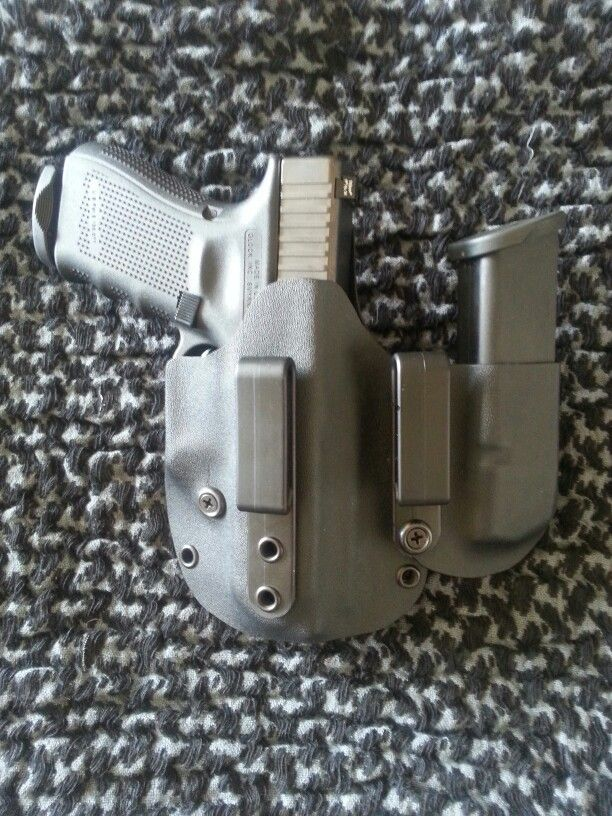 AT Tactical Holsters kydex appendix carry holster Glock 19 with extra mag carrier www.ATTacticalHolsters.com
