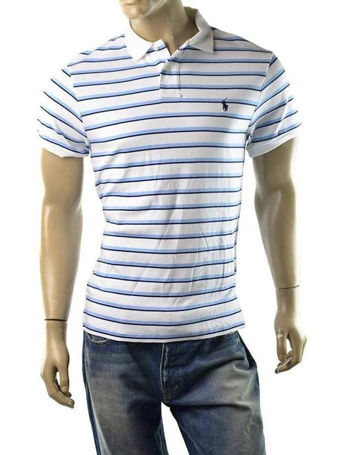 POLO Ralph Lauren Polo Shirt Mens Sueded Cotton Custom Fit Shirts Size XL  NEW #RalphLauren