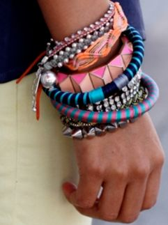 Bright  bangle stacks.: Style 289, Refin Style