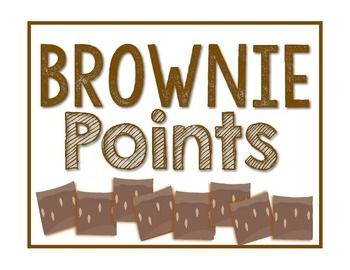 FREEBIE! Use this product to promote good behaviors in and out of your classroom. Students or the whole class can earn a brownie point when they receive a compliment from another teacher or their own teacher. Students will want to follow school expectations when they start receiving brownie points. My class will then get to have a compliment party. Find it at Molly's Kindergarten TpT Store! :)