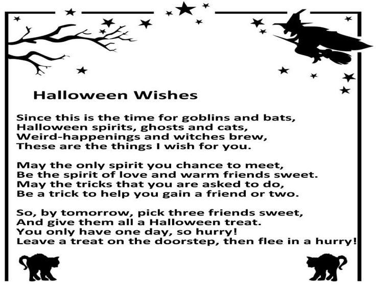 The 25+ best Halloween poems for kids ideas on Pinterest ...