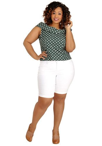 Sun and Surf Shorts in White - Plus Size by Levi's - Cotton, Denim, Woven, White, Solid, Pockets, Casual, Skinny