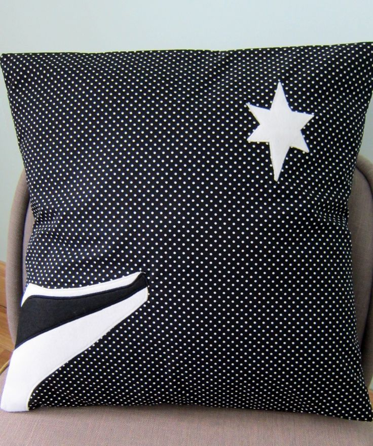 Star Gazing Badger Cushion First Christmas Present Done