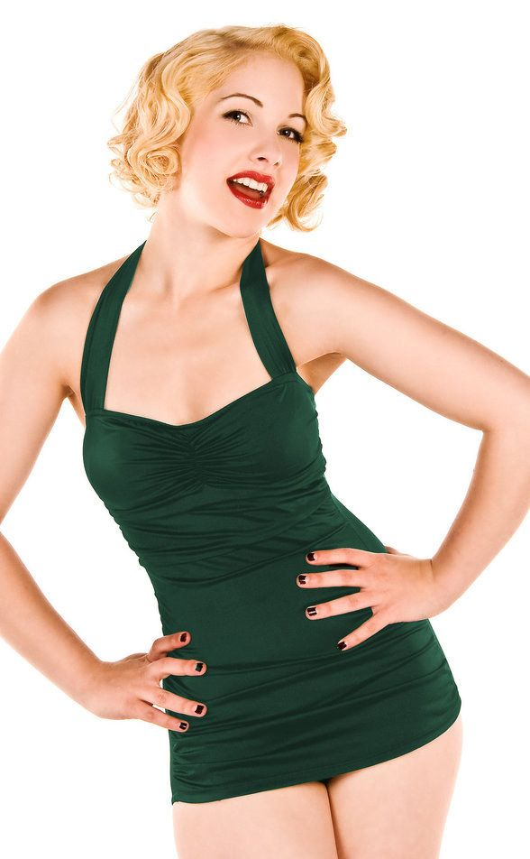 Or this one in cool racing green. | 19 Super Cute Boyleg Swimsuits