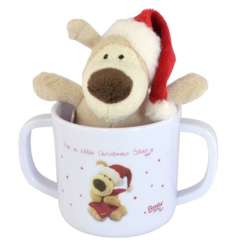 Boofle baby cup and plush set for a little christmas star
