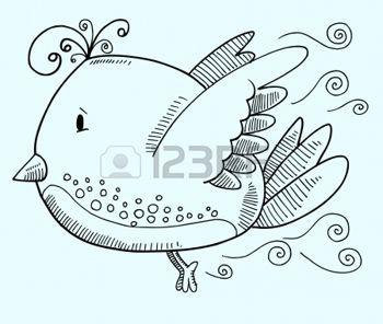 Doodle Art Vecteur Illustration oiseaux photo