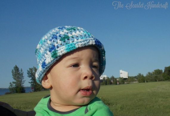 Boy Crochet Summer Hat. Beach Hat. Handmade by TheScarletHandCraft