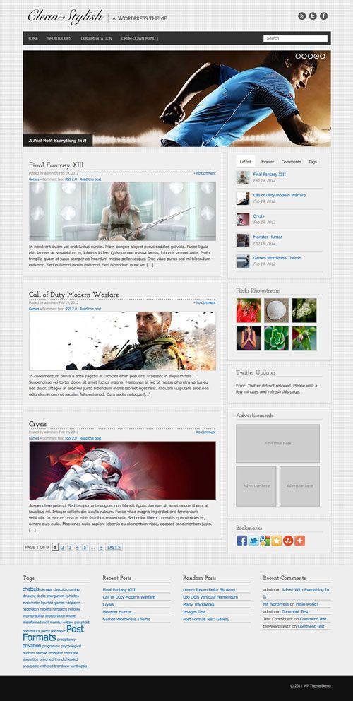 Clean-Stylish WordPress Theme | TemplatePanic.com
