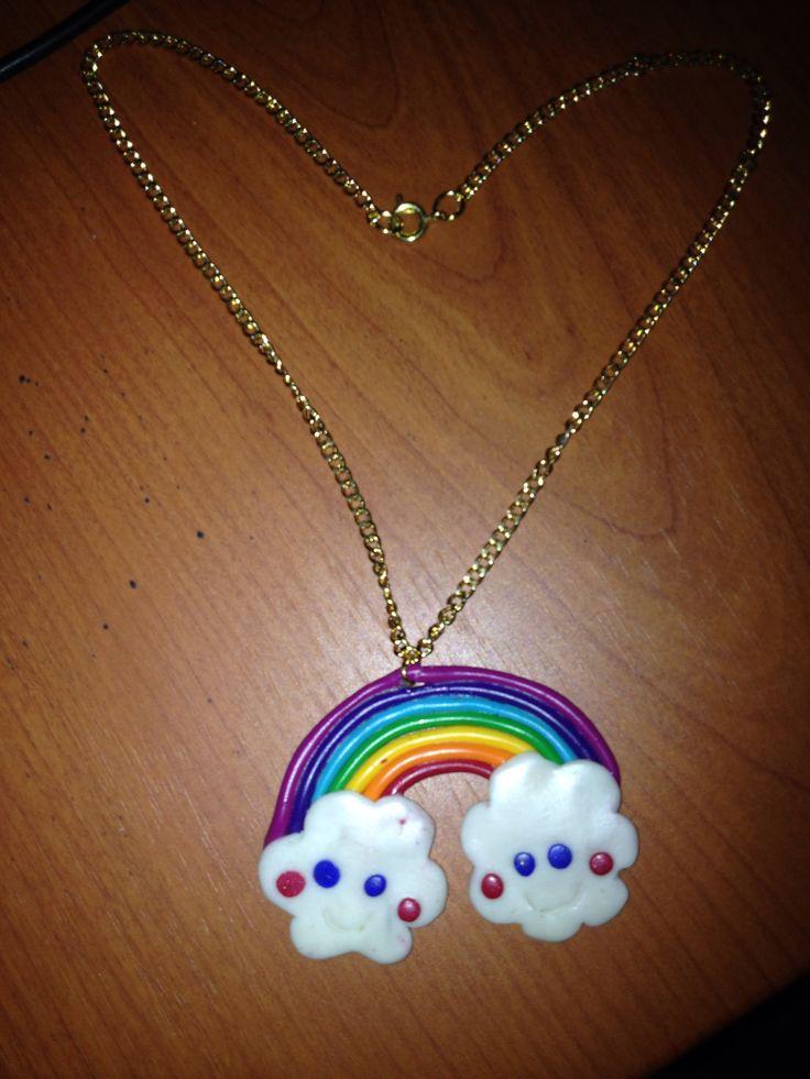 Collana con arcobaleno  #handmade