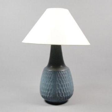 Blå bordslampa i keramik #vintage #interior #lamp #lightning #blue #cheramic