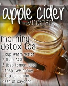 "Sweet, start and detoxifying, this ""tea"" refreshes you and provides some awesome benefits! The main ingredient is organic apple cider vinegar and it packs a punch! It aids in weight loss, helps control blood sugar, boosts energy, improves immunity, metabolism, digestion, acne, hair, breath and more"