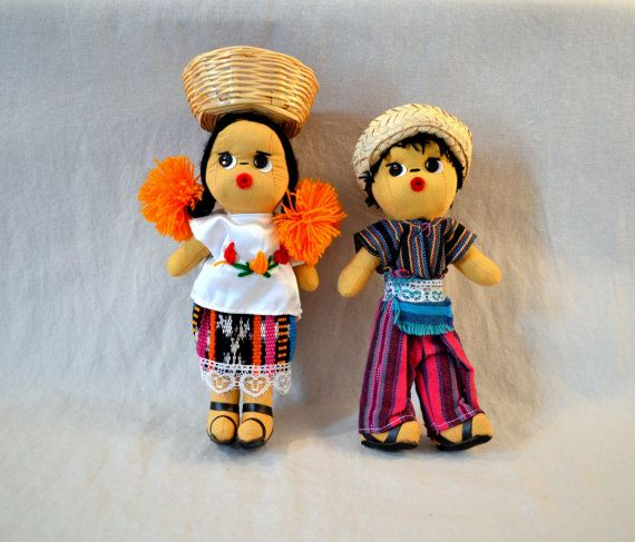 Guatemala   Traditional Dolls - Medium Pair