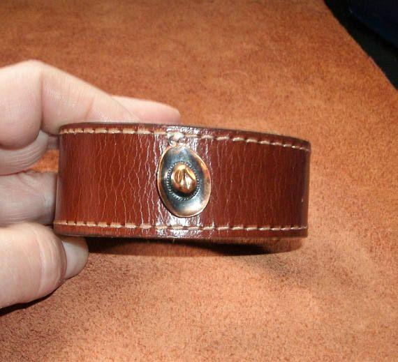 Bracelet Cuir Véritable Recyclé
