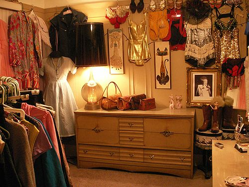 #vintage dressing room by sveetcouture, via Flickr #closet love