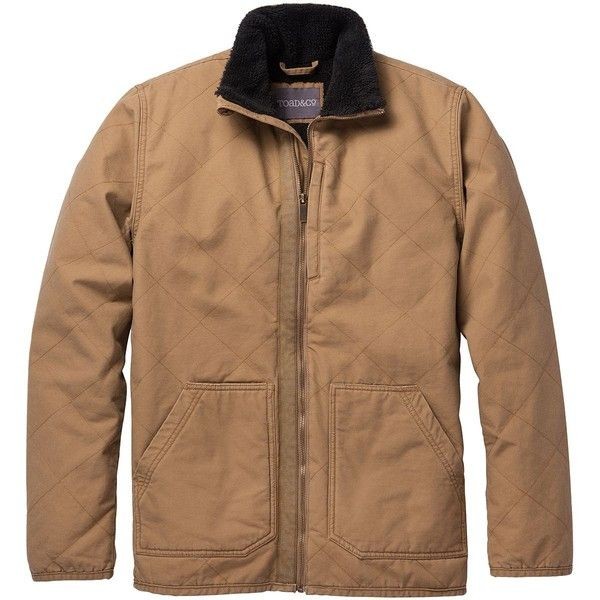 Toad&Co Double Bock Jacket ($159) ❤ liked on Polyvore featuring men's fashion, men's clothing, men's outerwear, men's jackets, mens lightweight jacket, mens insulated jackets, mens canvas jacket and mens light weight jackets