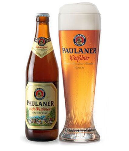 #Paulaner Hefe-Weissbier - Very good German pszeniczniak and most importantly, available virtually everywhere. Price about 6, 00, but worth it. It occurs both in Hefe Weissbier light and dark Dunkel. Nothing more, nothing less - is simply excellent and worth a try - absolutely!