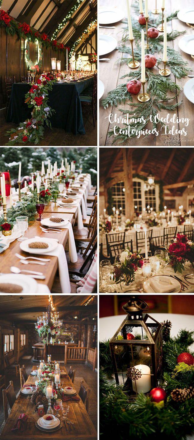 35 Awesome Festive Christmas Theme Winter Wedding Ideas Elegantweddinginvites Com Blog Winter Wedding Centerpieces Christmas Wedding Centerpieces Christmas Bridal Showers
