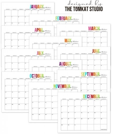 101 best Free Printable Calendars images on Pinterest Monthly - printable calendars