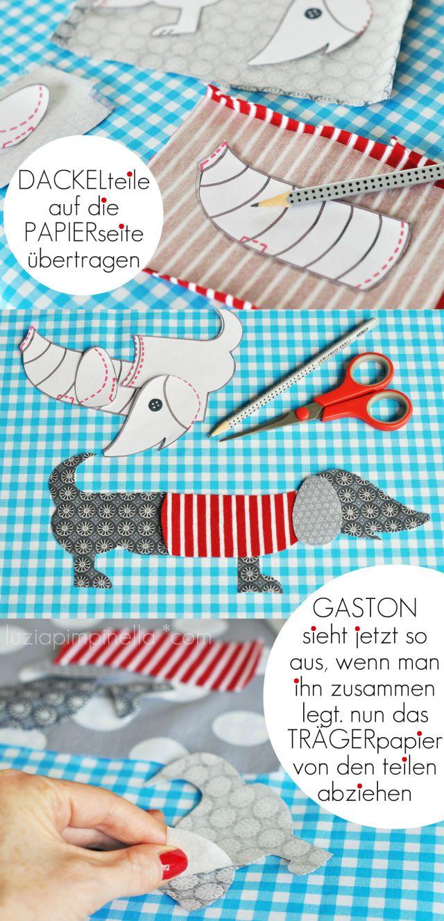 DIY Fabric Dachshund! (auf deutsch und English)